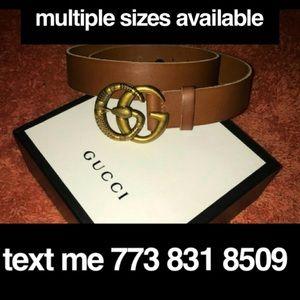 Gucci gold snake belt cuir